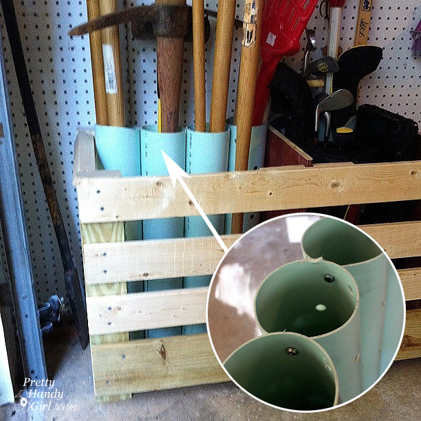 You Should Use PVC Tubes To Maintain All Lined Up And Arranged Inside A  Easy Pallet Field. Label Tools In Garage