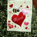 Valentine's Day Garden Flag from a Placemat