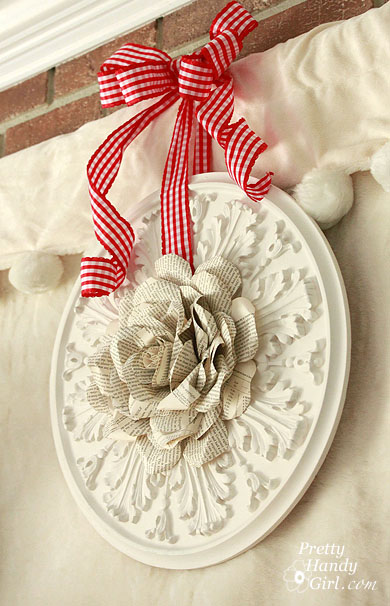 Book Page Rose Wreath