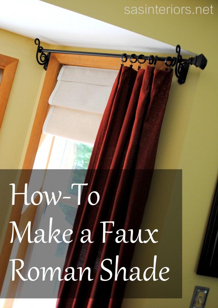 Making a Faux Roman Shade - DIY Talent SAS Interiors