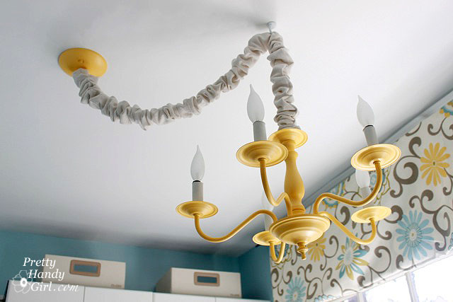How To Swag A Light Fixture Pretty Handy Girl