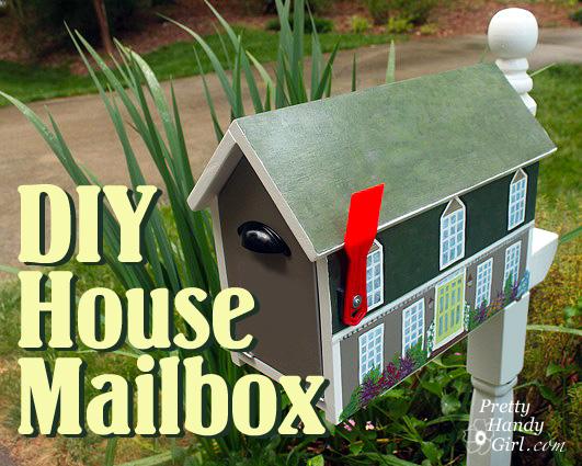 Make a house shaped mailbox a lowes creative idea pretty handy girl save solutioingenieria Choice Image