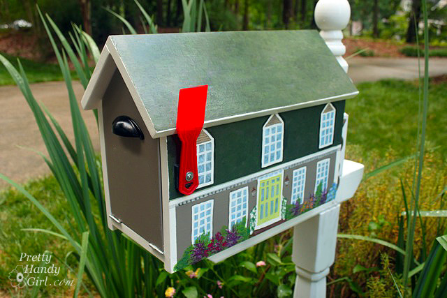 make a house shaped mailbox a lowe 39 s creative idea