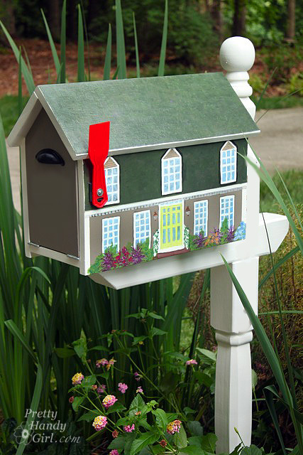 Make A House Shaped Mailbox A Lowe S Creative Idea Pretty Handy Girl