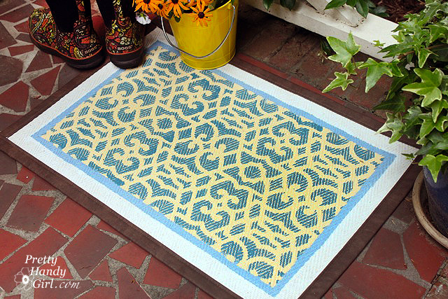 royal design studio stenciled door mat rug