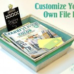Make Your Own Customized File Bin with Mod Podge
