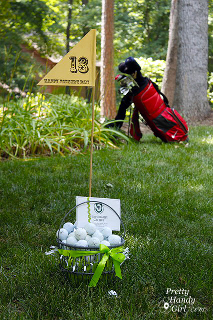 fathers day gift idea golf gift basket pretty handy girl