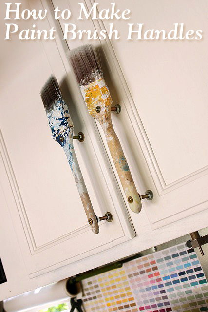 Old Paintbrush Cabinet Door Handles Pretty Handy Girl