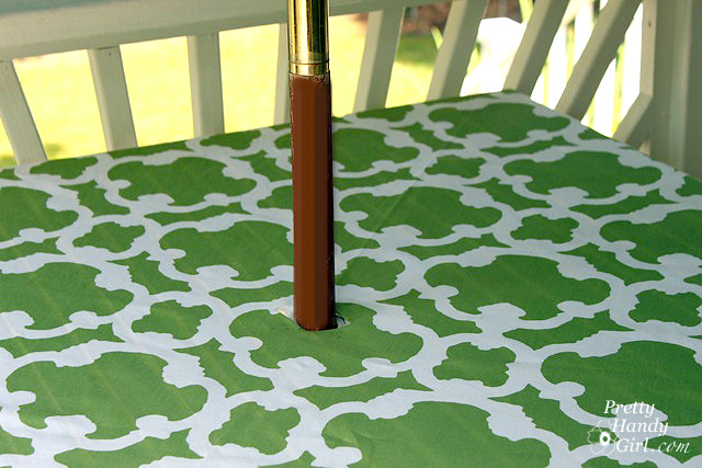 Outdoor Rectangle Tablecloth With Umbrella Hole Table Design Ideas