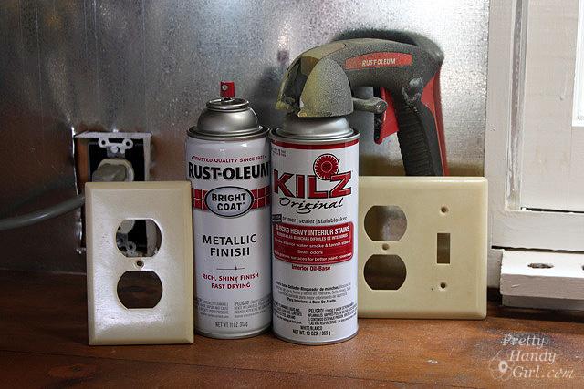 install your own magnetic metallic backsplash a. Black Bedroom Furniture Sets. Home Design Ideas