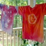 Dye Sprayed Shirts Using ScotchBlue Tape {Video Tutorial}