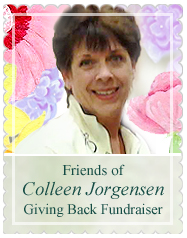 Colleen fundraiser button