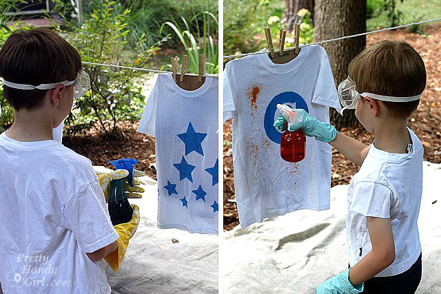 Spray-Dyed T-shirts | Pretty Handy Girl
