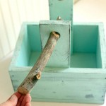 Rustic Wooden Caddy with a Branch Handle