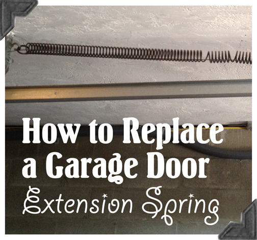 garage door extension springsHow to Replace Garage Door Extension Springs  Guest Post Home