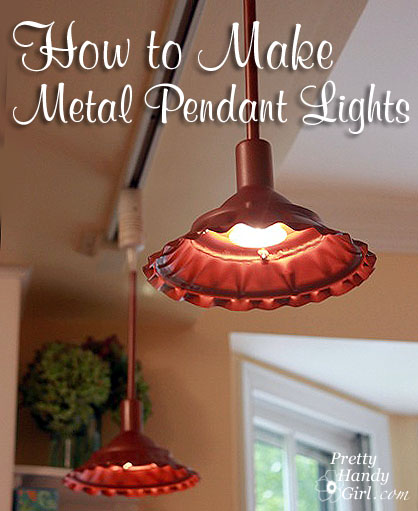 How To Make Farmhouse Style Metal Pendant Light Pretty