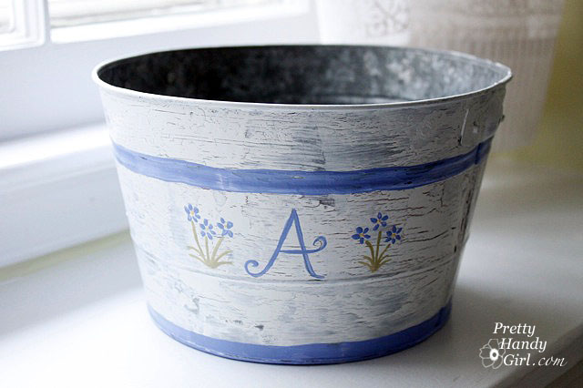 How to transform a thrifted bucket into a piece of beauty