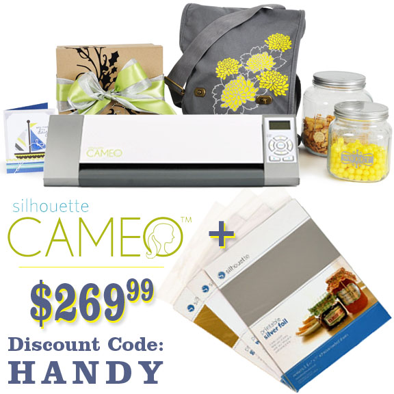 silhouette cameo discount code = HANDY
