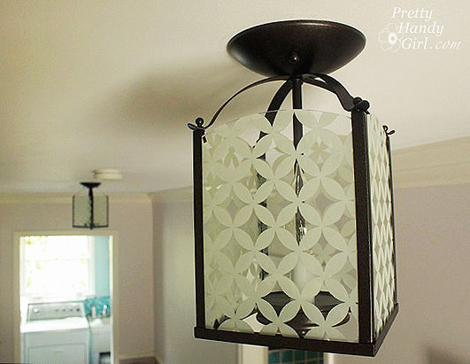 Circle Diamond Pattern Light Fixture Updating a Brass Light