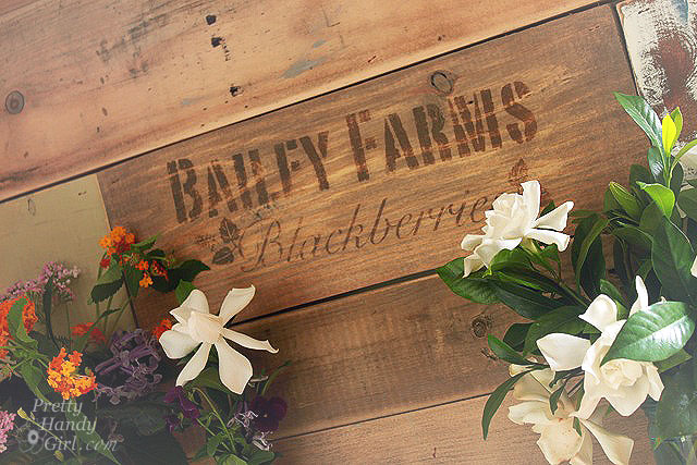 Rustic Farm Crate Sign
