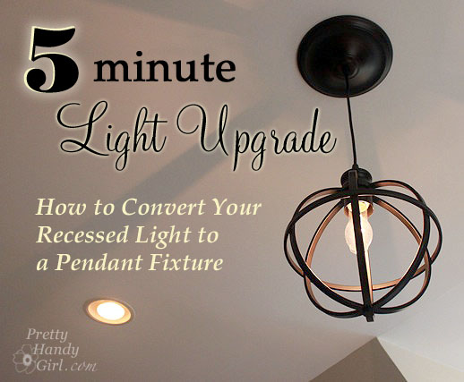 5 minute light upgrade converting a recessed light to a pendant save mozeypictures