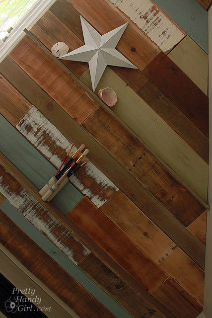 How To Install A Scrap Wood Wall Pretty Handy Girl