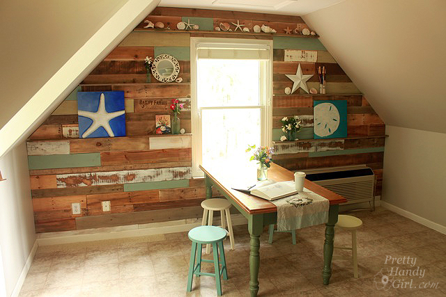 I ... - How To Install A Scrap Wood Wall - Pretty Handy Girl