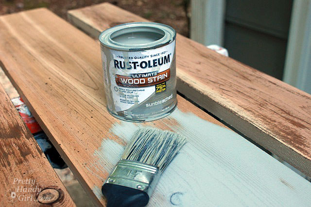 How To Make New Wood Look Old Weathered And Rustic Pretty Handy Girl