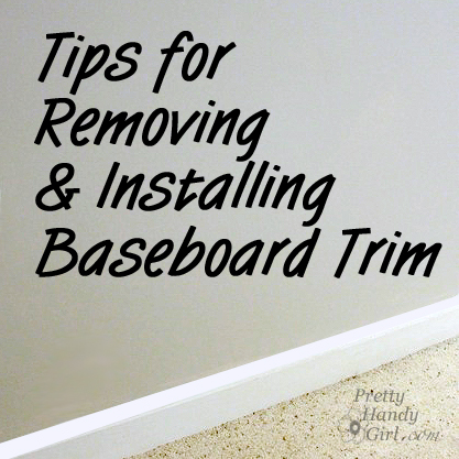 how to remove door stop molding