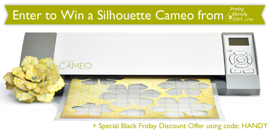 silhouette cameo giveaway plus silhouette discount code: HANDY