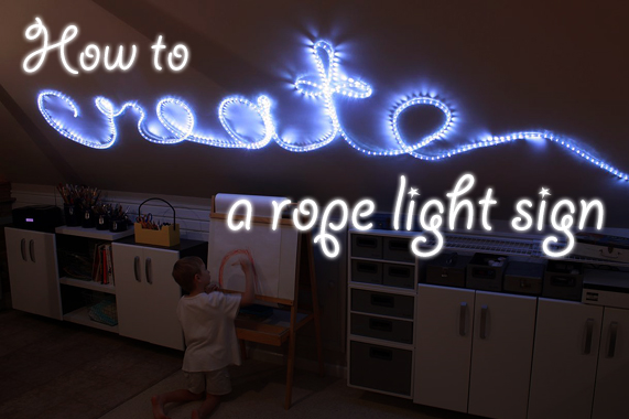 How to create rope light word wall art aloadofball Image collections