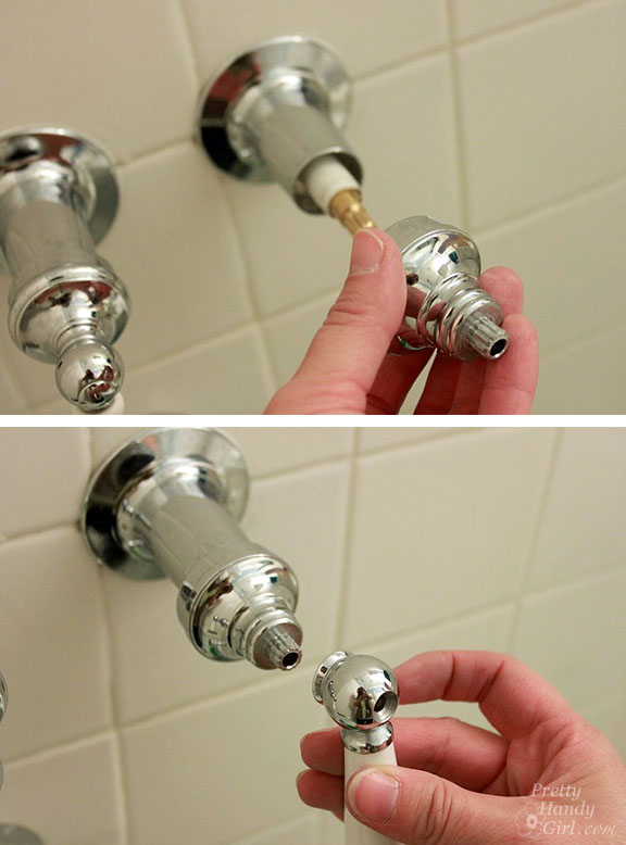 replace the screw holding the handle on and replace the cap if