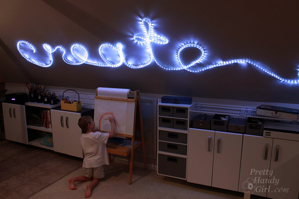How To Create Rope Light Word Wall Art - Rope lights in bedroom