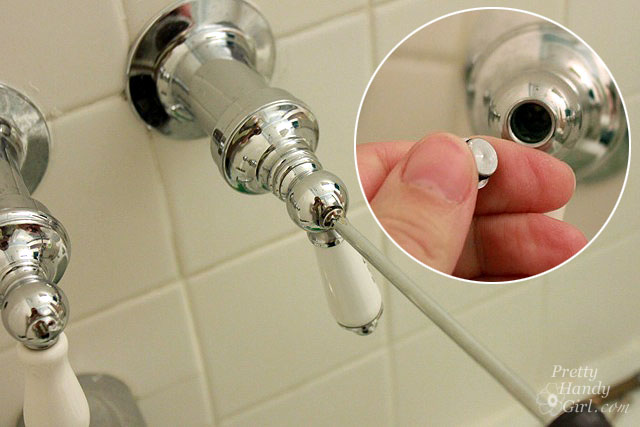 How to Repair a Leaky Shower or Tub Faucet - Pretty Handy Girl