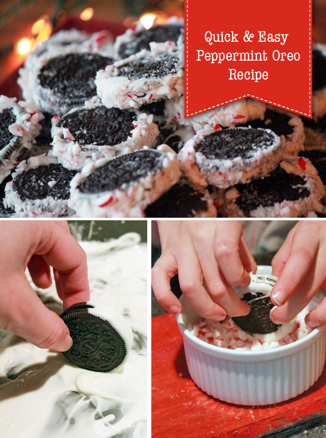 Quick & Easy Peppermint Oreo Recipe : Great for last minute cookie exchanges or gifts