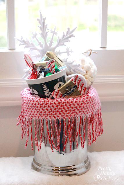 Warm  Cozy Chocolate Gift Basket DIY Gift Link Party  Pretty