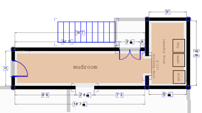 Mudroom floor plans with dimensions joy studio design for Mudroom laundry room floor plans