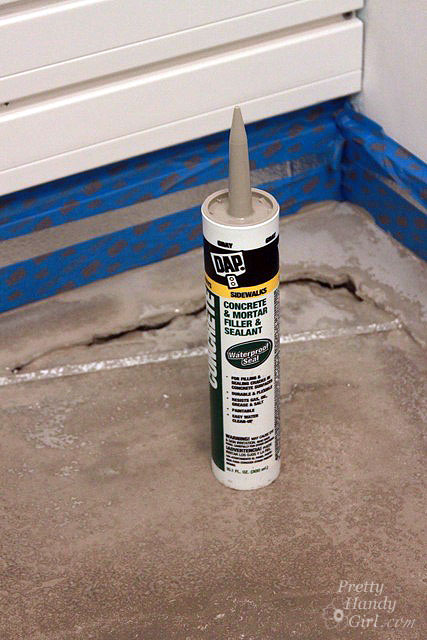How to patch and level a concrete subfloor pretty handy girl for Liquid lino floor paint