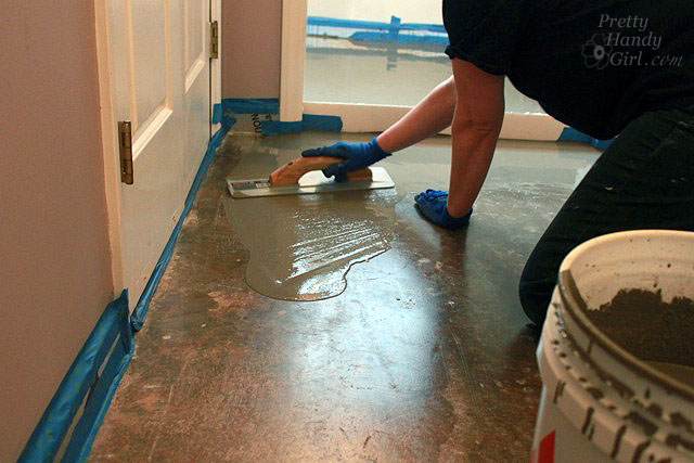 Can you use self leveling compound on wood subfloor for Floor leveling compound for wood subfloors