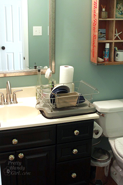 How To Survive Without A Kitchen During Renovation Pretty Handy Girl - Bathroom sink set up