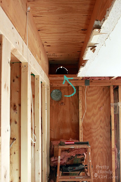Kitchen Framing and Moving Ventilation