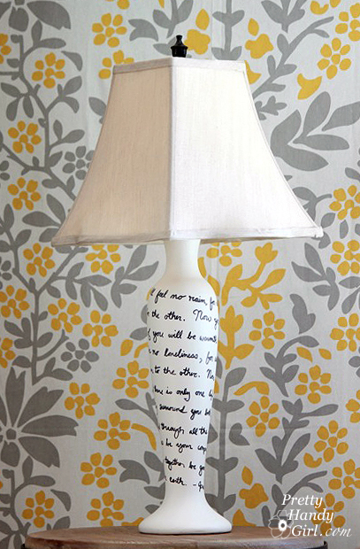 Song Lyrics Lamp Makeover