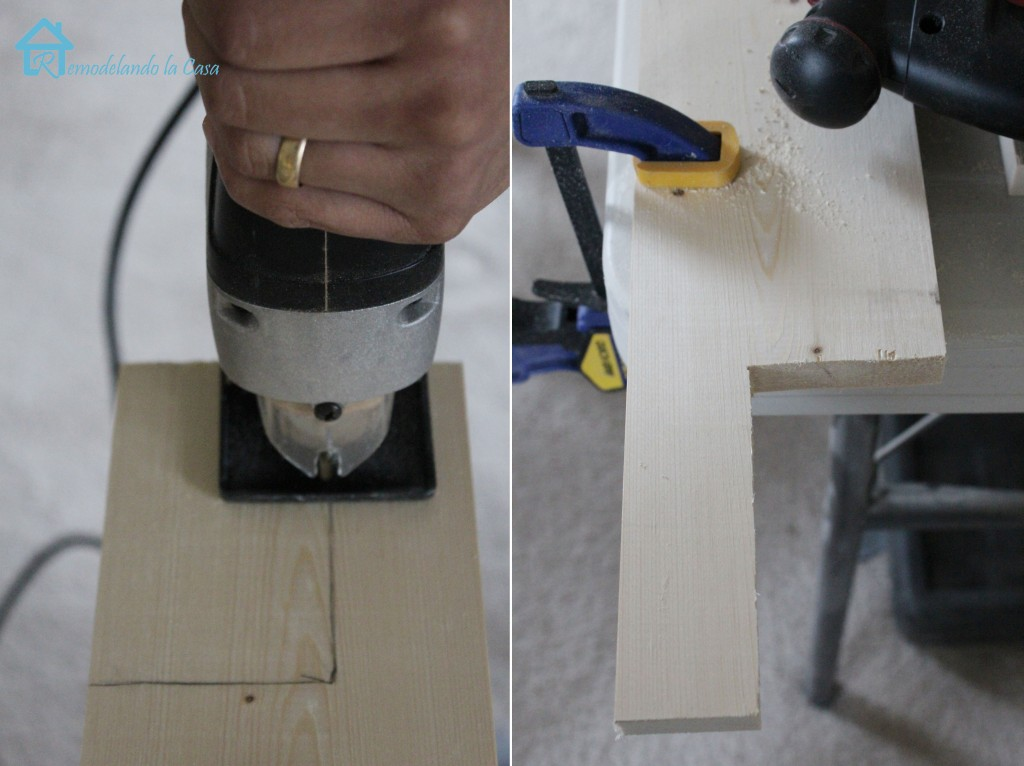 Cutting window stool with jig saw lg