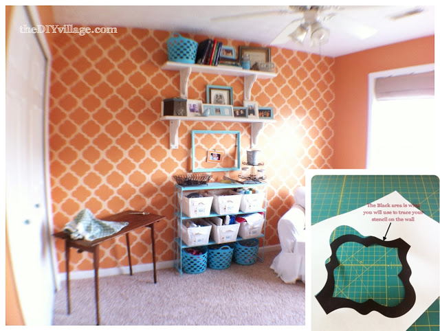 Stencilled_trellis_wall
