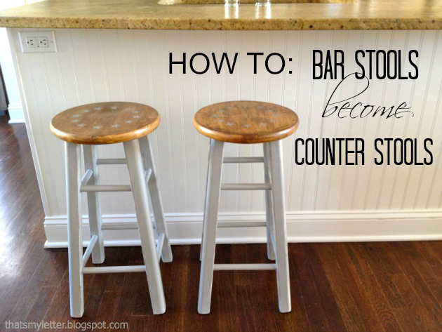 Cut Bar Stools Down To Counter Height