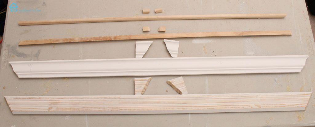 crown molding and half round to trim window lg