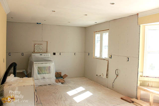 how to hang kitchen cabinets on drywall drywall installation tips and kitchen progress update 17014