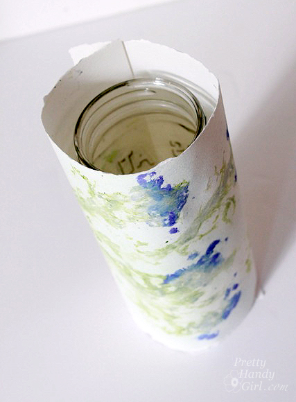 roll_paper_around_mason_jar