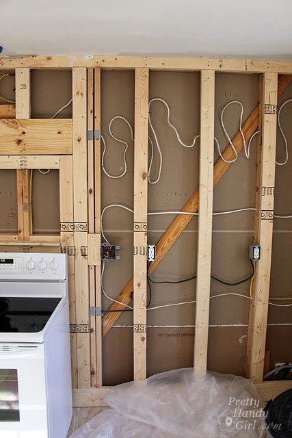 drywall installation tips and kitchen progress update pretty handy rh prettyhandygirl com wiring in walls studfinder detecting electrical wiring in walls