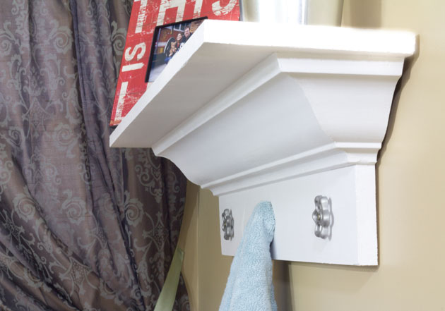 How to Build a Decorative Shelf With Crown Molding - Pretty Handy Girl